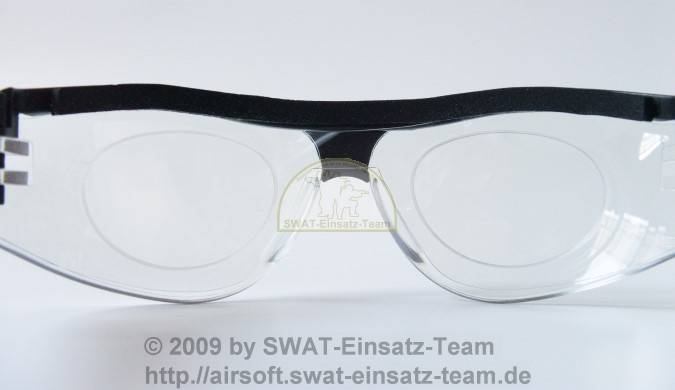 Swiss Eye Protector mit Adapter - Innenansicht